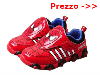 Scarpe di spiderman luminosi con luci o senza lacci for Stampe da colorare spiderman